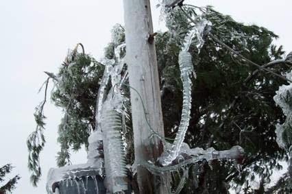 Ice on transformer